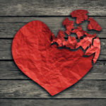 Image of broken heart - relationship breakup divorce